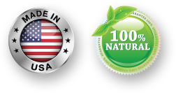made in usa and 100 natural
